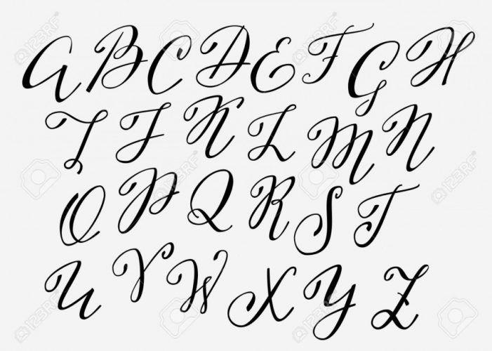 Moldes De Letras Cursivas Para Imprimir Abecedario En Letra Grande Lettering Calligraphy Handwriting Handwriting Alphabet