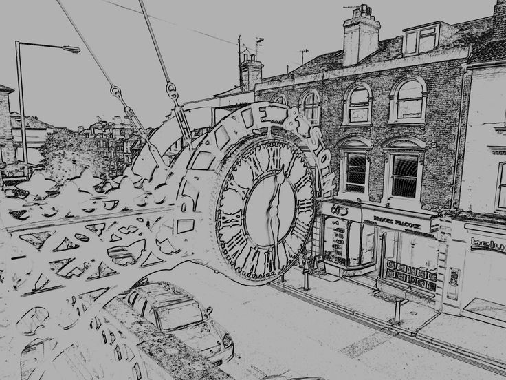 Sketch of the clock