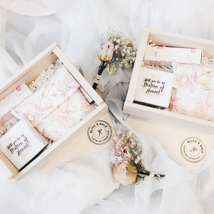 Wedding Gift Boxes For Bridesmaids : Bridesmaid proposal Bridesmaid proposal box, Bridesmaid proposal and ...