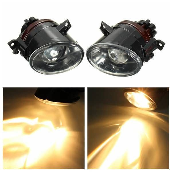 For 2006 to 2009 VW MK5 GTI 2006 to 2010 JETTA 9006 Bulb Projector Fog Lights 12V DC