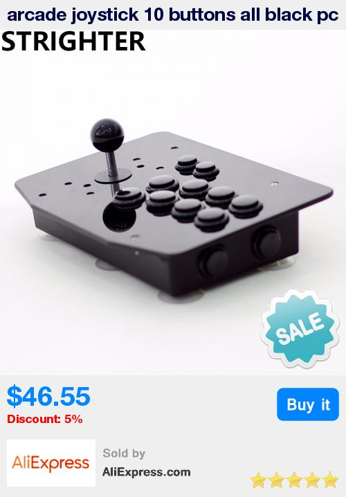 arcade joystick 10 buttons all black pc controller computer game King of fighters Joystick Consoles * Pub Date: 20:44 Sep 14 2017