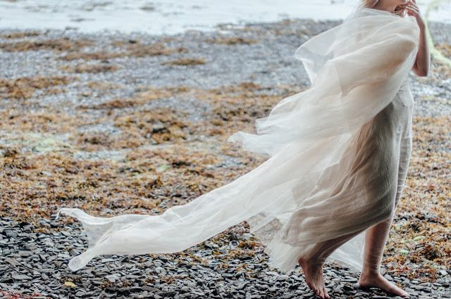 © Ayna O'Driscoll Photography, Styling/Couture/Crown: Alice Halliday. Boho Bridal Inspiration, Lady of the Lake, Mermaid Style, Boho Bride, Beach wedding