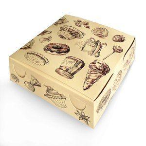 Коробка для пирожных и сладостей (18*18*7 см)