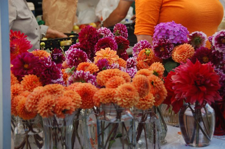 Flowers, Santa Fe Farmers Market. A Saturday morning tradition