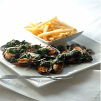 Spinach and Grana Padano stuffed Mussels