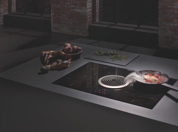 Campana extractora integrada en la placa de cocina bora - Campana extractora integrada ...