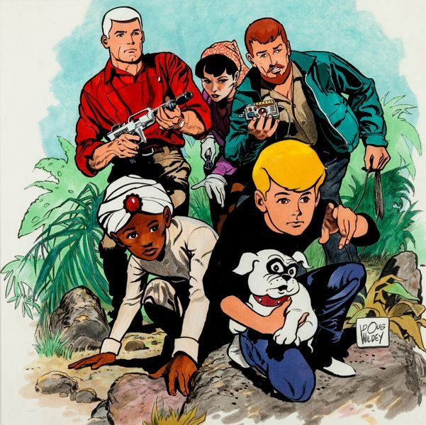 Animation Art:Production Drawing, Doug Wildey Jonny Quest Illustration (Hanna-Barbera,1986)....