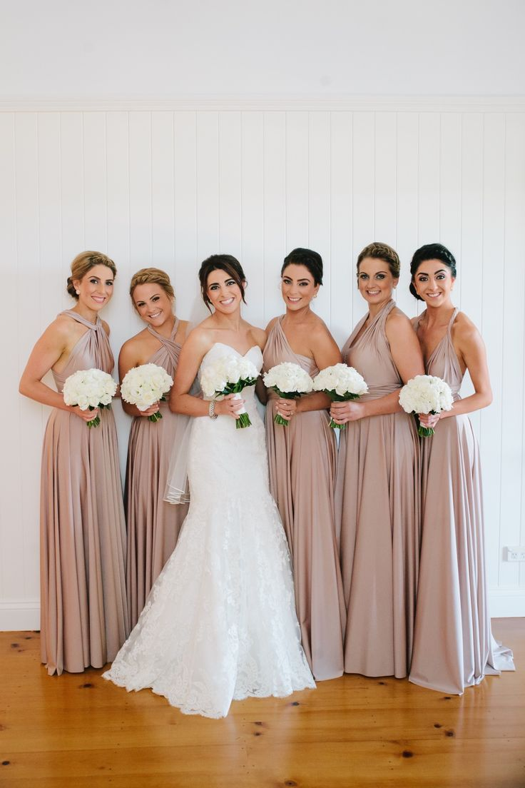 Multiway Bridesmaid Dresses in colour Blush Pearl | www.goddessbynature.com