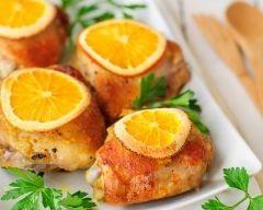 Cuisses de poulet à l'orange : http://www.cuisineaz.com/recettes/cuisses-de-poulet-a-l-orange-79500.aspx