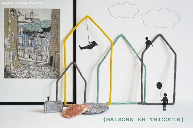 Lily's Little Factory: Maisons en Tricotin
