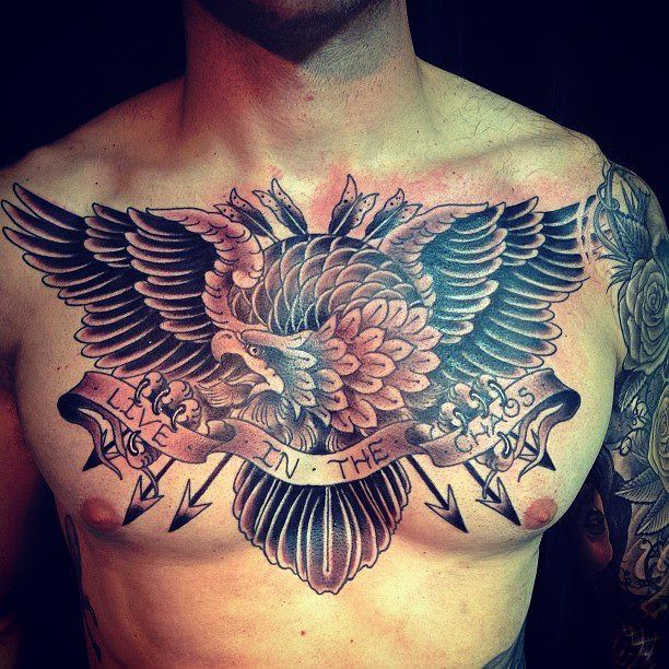 Beautiful chest piece by Matt Skinny Bagwell