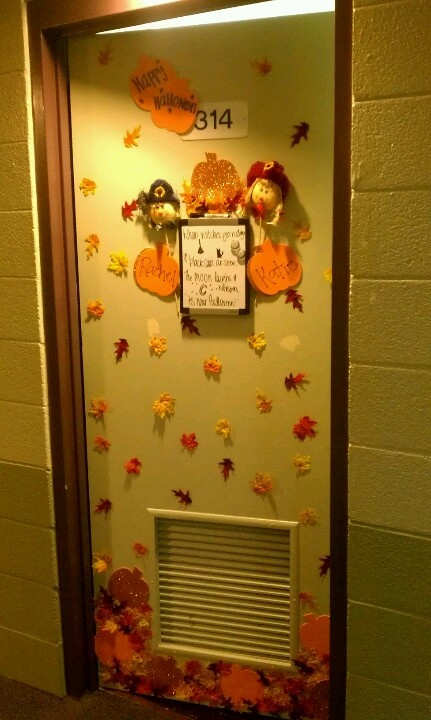 I will decorate my dorm room door for every holiday!
