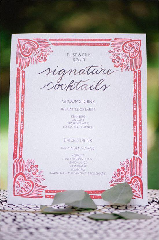 優しい赤でナチュラルテイスト♡赤がテーマカラーの結婚式にしたい♡赤いメニュー表のまとめ一覧です♡