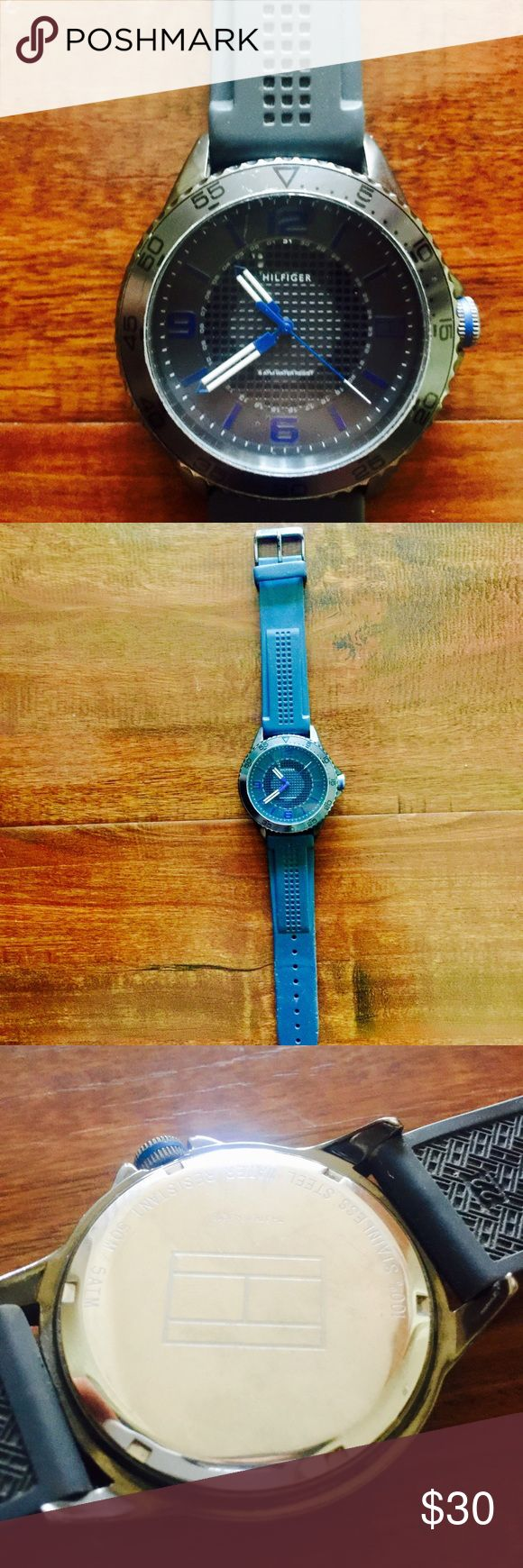 Tommy Hilfiger watch Gray silicone Tommy Hilfiger watch. Good condition used watch. Great for a day to day watch. Tommy Hilfiger Accessories Watches
