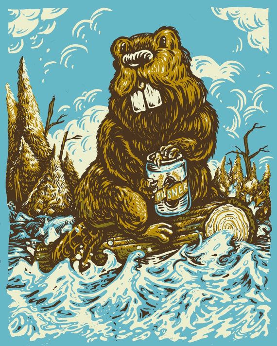 Beaver with Pilsner  Canada's Wilderness Series by QuarrelsomeYeti