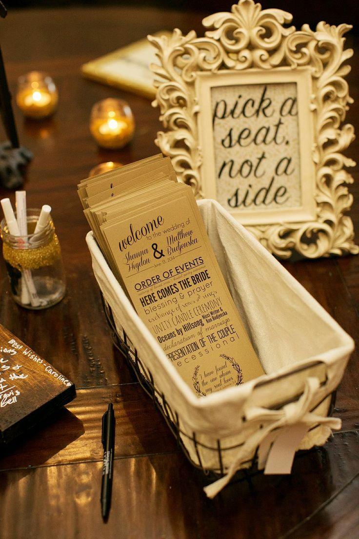 Wedding Photography Programs: 10+ Ideas About Wedding Reception Program On Pinterest