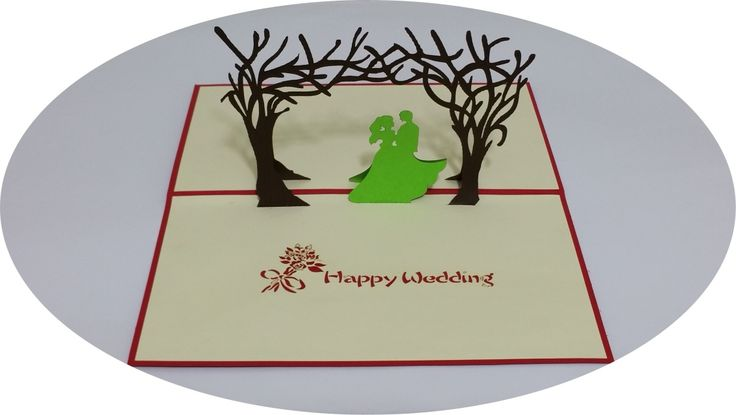 Happy Wedding 2 - 3D Pop Up Cards - Greeting Cards - Ovid Gifts