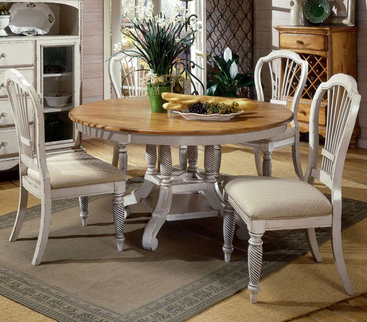 5-Piece Wilshire Round Dining Set by Hillsdale - Home Gallery Stores