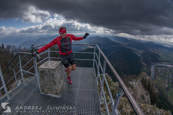 Mountain running. Poland, the Pieniny Mountains