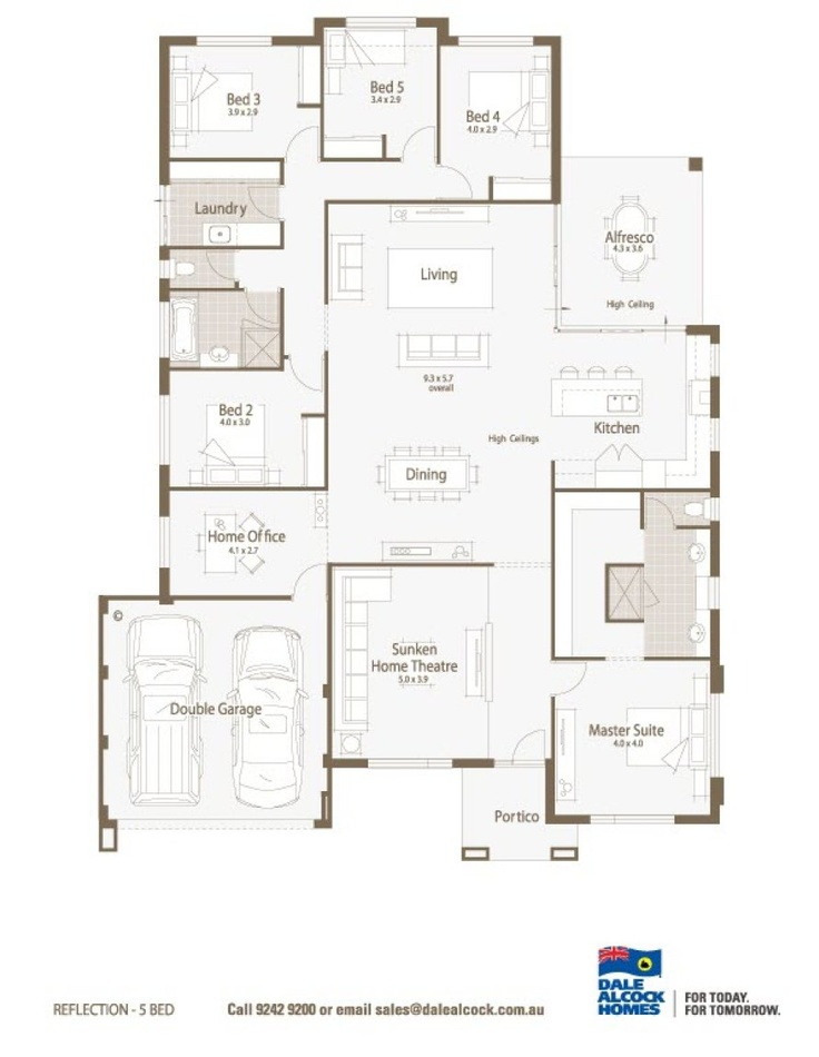 Reflection floorplan dale alcock house plans and ideas for Dale alcock home designs