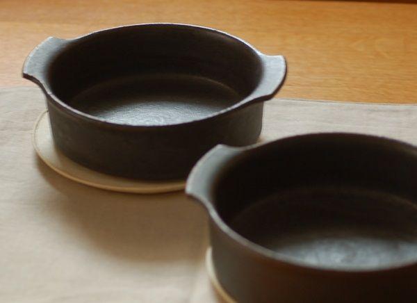 橋本忍作 鉄黒 耐熱皿(グラタン皿) new
