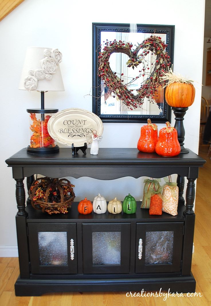 Entryway Table decor | Fall Home Decor — Creations by Kara