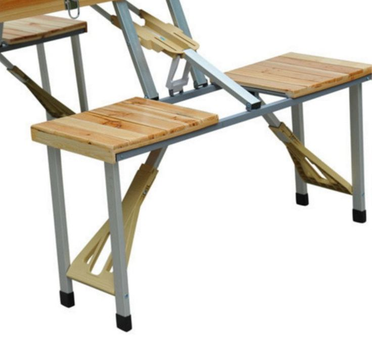 foldable picnic table garden furniture wooden outdoor camp table lightweight