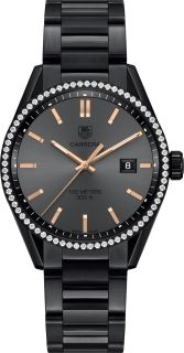 Call Darren at 813-875-3935 to buy your next Tag Heuer from and authorized dealer! 100M  Diamond Bezel  41MM  CARA DELEVINGNE SPECIAL EDITION