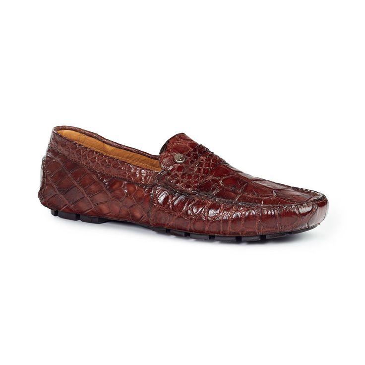 Mauri Men's Body Alligator Brown Moccasins 3128 (MA4506)