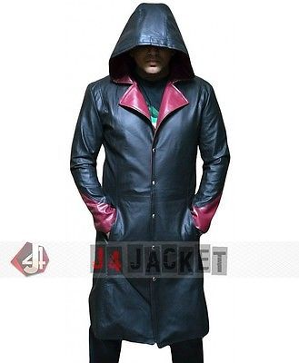 New DMC Devil May Cry 5 Dante Cosplay Leather Coat for Men's Halloween Costume