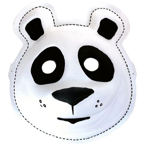 Nalle-naamarista voi tehdä myös sympaattisen pandan. Tarvikkeet ja ideat Sinellistä!