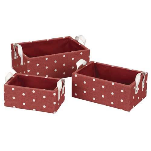 Stylishly Store Your Clutter With A Set Of 3 Woven Paper Baskets. These  Fully Lined