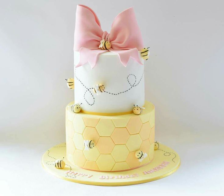 Beautiful bumble bees and pink bow
