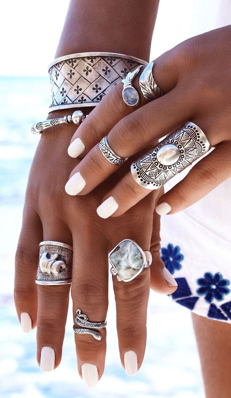 Gypsylovinlight Ethnic Statement Silver Jewelry Inspo
