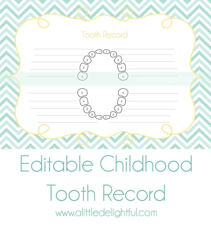 Best Baby TeethTooth Fairy Images On   Tooth Chart