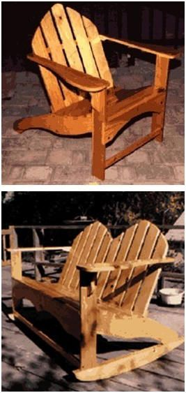Build Your Own Adirondack Furniture - Get easy free project plans and step-by-step building guides at Amateur Woodworker