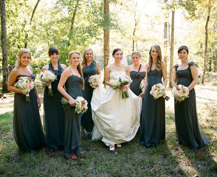 Best 25 Charcoal Grey Bridesmaid Dresses Ideas On Pinterest Weddings Dark And