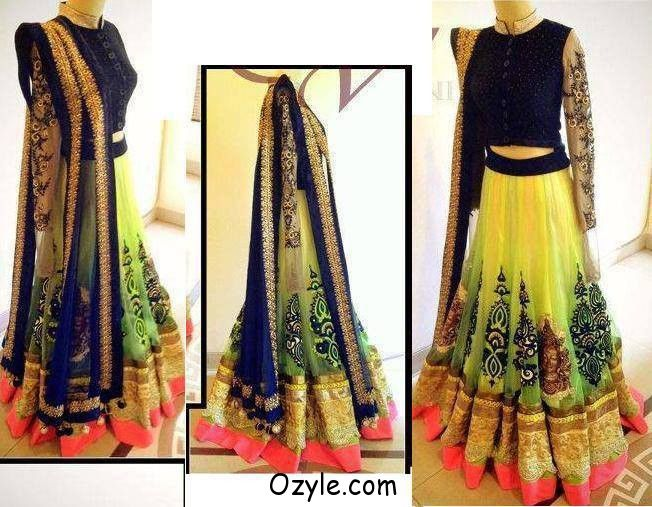 New Stlye Lehenga Saree & Frock 2013 - wedding sarees - Zimbio