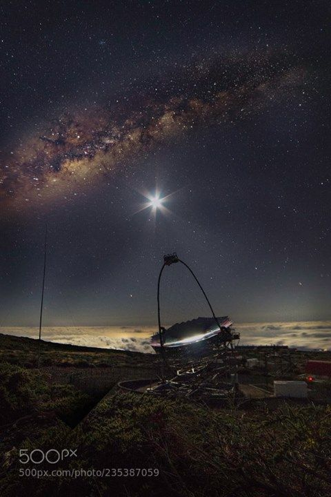 Milky way over the IACT a joined telescope by Ita ...  Milky way over the IACT a joined telescope by Italian German and Spanish scientists looking for cherenkov radiation. La Palma Canary Islands.  Join the Milky Way Group http://ift.tt/2sf2DTT and share your Milky Way creations or findings with the world! Image credit: http://ift.tt/2yXX3dG Don't forget to like the page or subscribe for more Milky Imagery!  #MilkyWay #Galaxy #Stars #Nightscape #Astrophotography #Astronomy