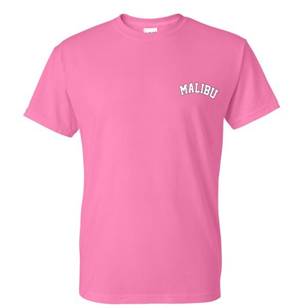 malibu pink tshirt from teeshope.com This t-shirt is Made To Order, one by one printed so we can control the quality.