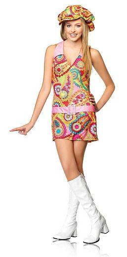 Groovy Hippie Costume - Teen Girl Costume  #OyaCostumes