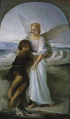 Tobías y el ángel por Eduardo Rosales Gallinas - Eduardo Rosales Gallinas © Dominio público