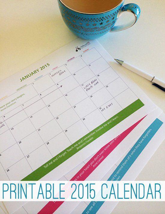 Print your copy of this handy 2015 calendar. Printable.
