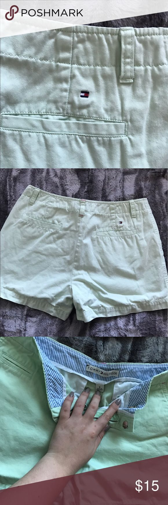 Tommy Chino Shorts Lime or pastel green chino shorts Tommy Hilfiger Shorts