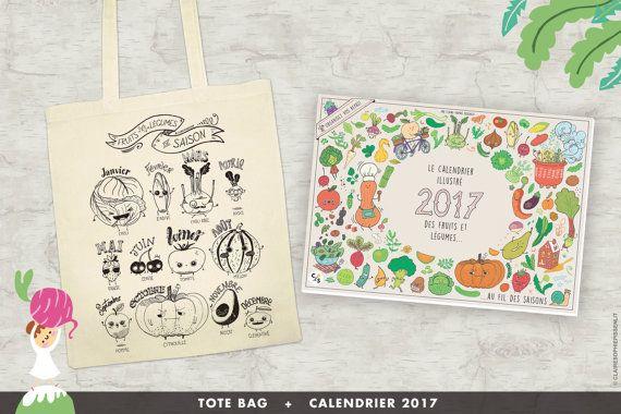 Bundle tote bag + calendrier 2017 des fruits et légumes de saison