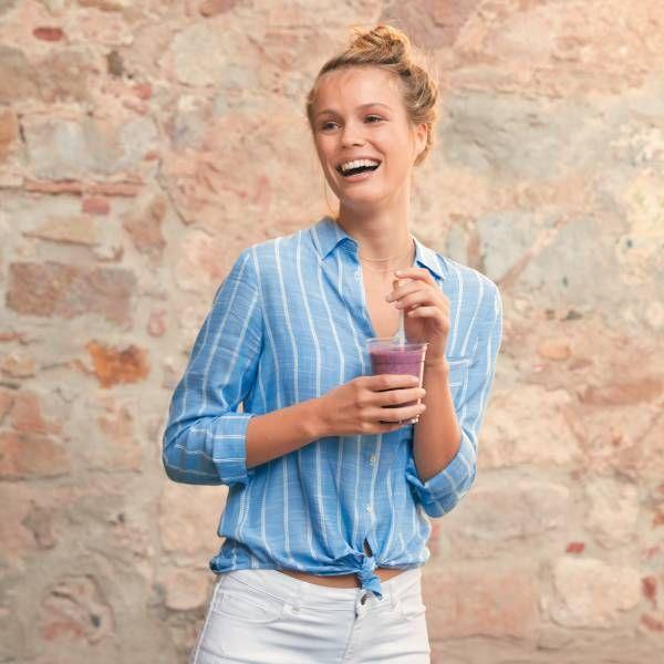 Chemise rayée rayé bleu Femme - Kiabi