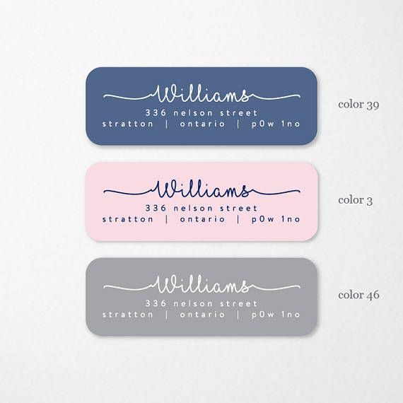 Personalized Return Address Labels, Custom Self-Adhesive Labels, Return Address Stickers, Return Address, Vintage Return Labels, RAL9