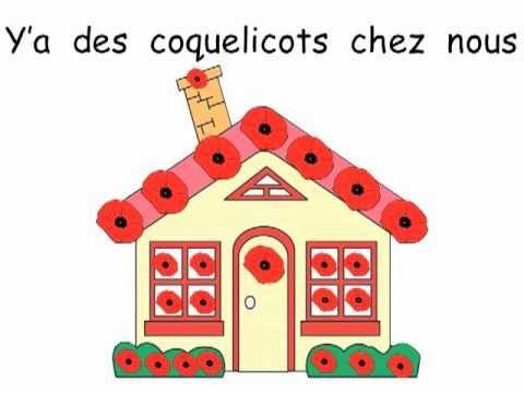 French Remembrance Day Song: Beau coquelicot. Pour le jour du Souvenir!