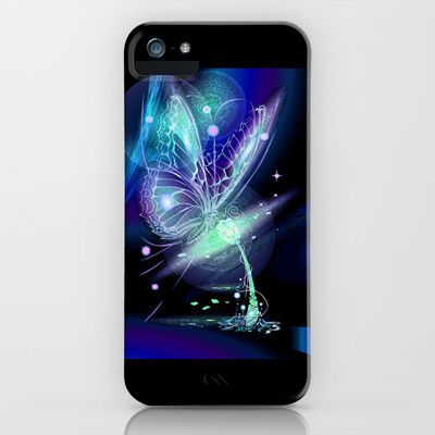 Galactic Butterfly iPhone & iPod Case by Veronica  Kokoreva - $35.00