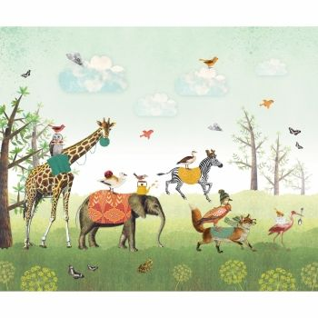 #pimpelmees #wallpaper #kidswallpaper #dierenparade
